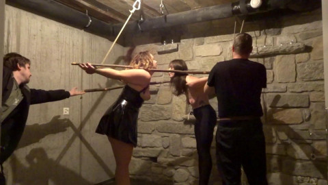 2 Incredibly Sexy Girls Tied Together And Nicely Gagged - HD 720p