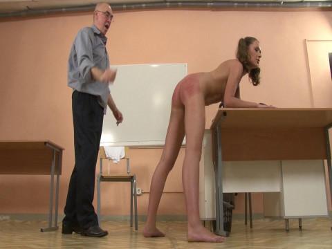 Russian Schoolgirl Punished Hard