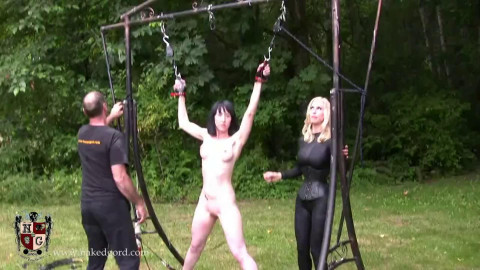 Bondage, spanking, strappado and torture for sexy naked angel