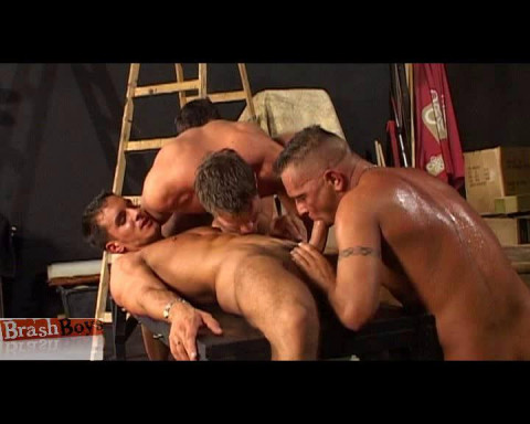 Gay Orgy On The Set