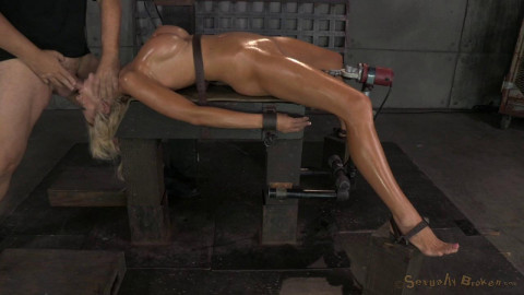 Courtney Taylor bound onto fucking machine