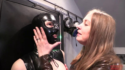 Bondage, domination and soreness for hot wench in latex (part 1)
