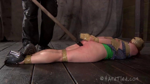Hard tying, soreness and spanking for nude doxy part 1