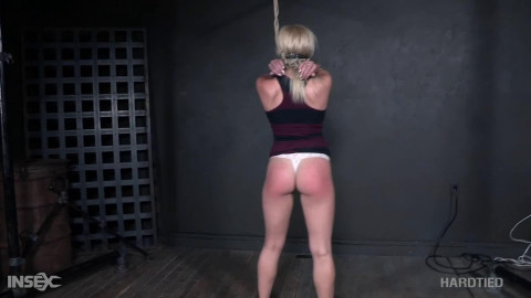 Bondage, strappado, hog tie and ache for golden-haired part 1