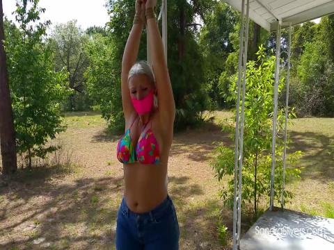 Daisy Dukes and Bikini Tops. Barefoot Country Lesbians Share Bondage