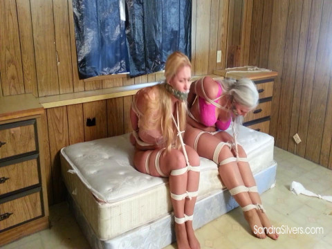 Sandra Silvers Lisa Harlotte Two Milfs Held Tightly Tied Neck-to-Knees Gagged (2017)
