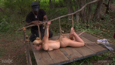 Bondage, spanking, wrist and ankle bondage and punishment for sexy golden-haired part 2 Full HD 1080