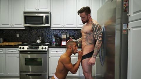 Dominic Santos gets barebacked by Jordan Levine