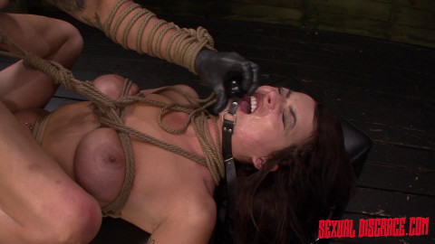 SexualDisgrace - Apr 02, 2015 - Kali Kavalli Endures 1st Slave Training with Rope Bondage