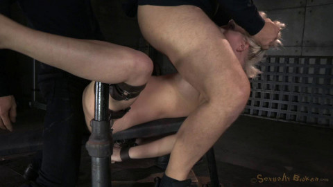 SexuallyBroken - Jan 09, 2015 - Busty blonde Cherry Torn bound and roughly fucked by 3 cocks
