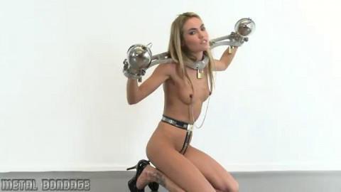 Sylvie teat clamped