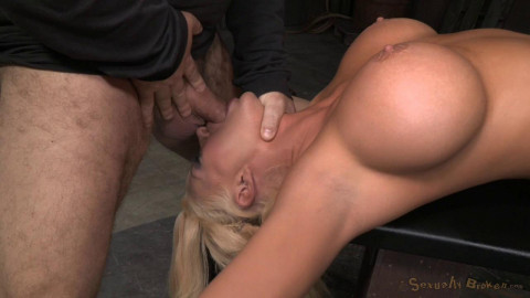 SexuallyBroken - Apr 08, 2015 - Sexy blonde Summer Brielle restrained with epic deepthroat