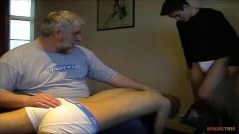 SpankThis Spring Training Spank sc.4 - Daddy Darby spanks Jamie & Leo