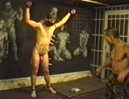 He punishes Fox with plenty of bondage, ball weights, a whip, intense ass spanking