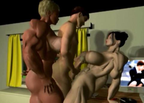 3D Shemuscle Futa Girls