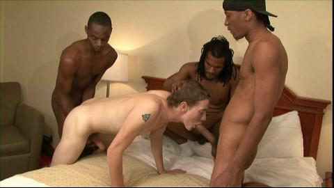 Joe White Gangbanged By Seven Black Dicks