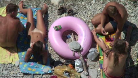 Peeped at the beach 8 - Voyeur, Nudism HD