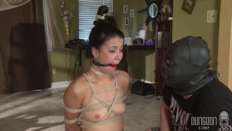 Restraint bondage, spanking, strappado and castigation for sexually excited wench part ASS TO MOUTH