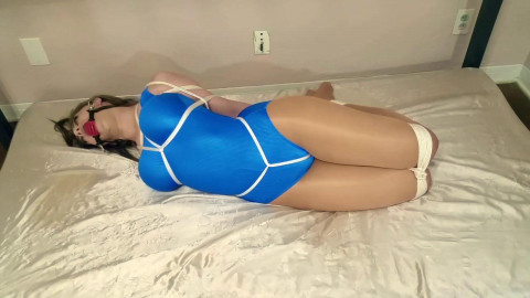 Hogtied in her Swimsuit - Terra Mizu - HD 720p
