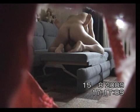Anal sex with a neighbor filmed with a hidden camera