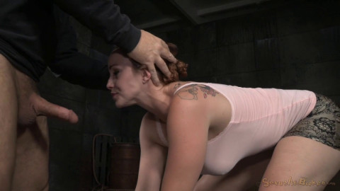 Big Breasted Bella Rossi Restrained In Metal Bondage