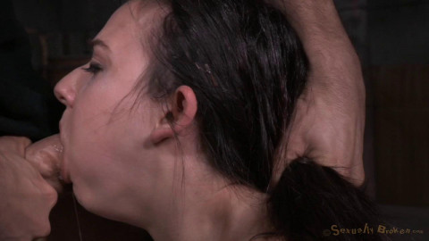 SexuallyBroken - Jun 24, 2015 - Fresh faced Amy Faye bound on sybian and throat trained by hard cock