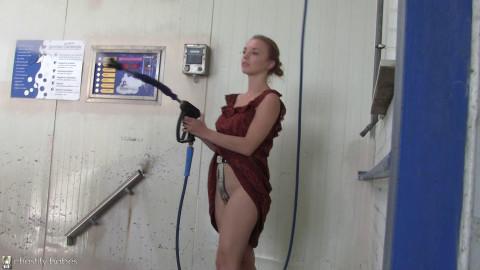 Alena – thonged animalism the carwash