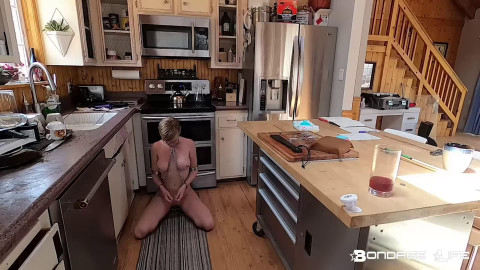 Bondage, domination and castigation for sexy stripped blond HD 1080
