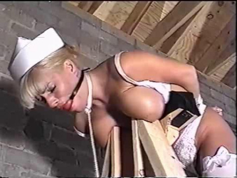 After being bound, the captor left. Youd then see her try to escape but to no avail