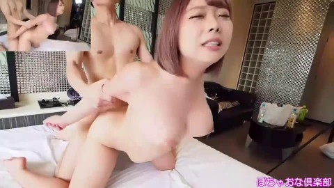 Chubby Japanese gal with short hair foursome - Kaho