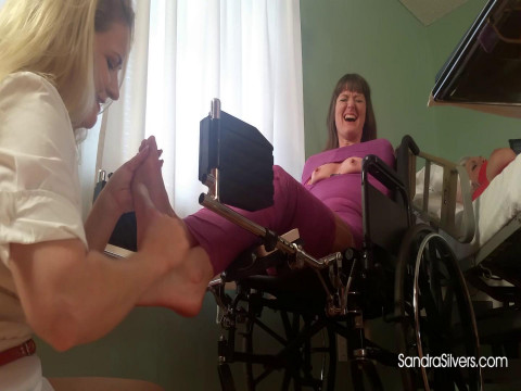 Nurse Lisa Gives Extreme Foot Tickling Therapy to Mummified