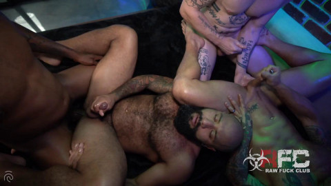 RawFuckClub - Hot Ass Foursome, Part 2 (Leo Forte, Dexx, Archer) [R49O]