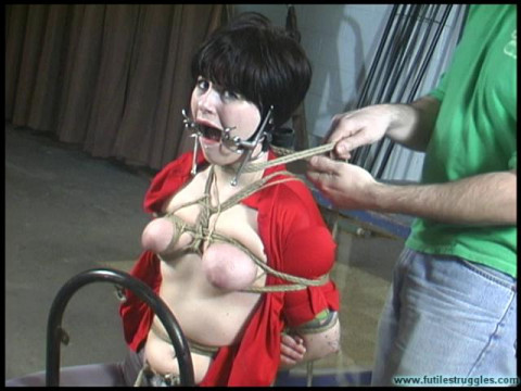 Breast Bondage, Ring Gag And A Tight Crotchrope For Alison Part 2