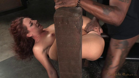 SexuallyBroken - Nov 20, 2015 - Sexy squirting Savannah Fox roughly fucked in strict bondage