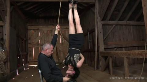 Tight restraint bondage, strappado and ache for lewd slavegirl part 1 Full HD 1080