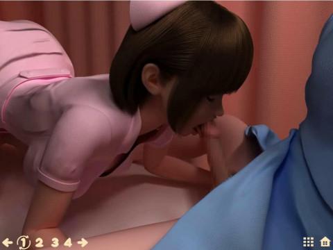 Sexy nurse in bed
