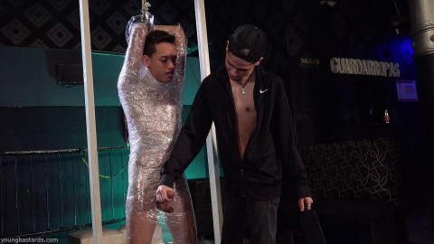 YoungBastards Plastic Wrapped And Pumped With Cock