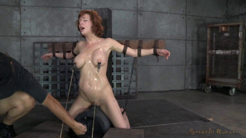 Veronica Avluv does brutal drooling deepthroat while crucified on a sybain