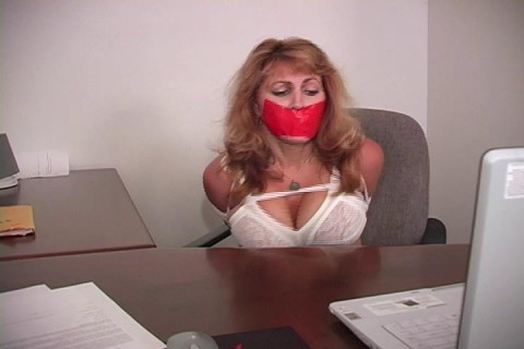 Autumn Woods-Panty Girdled MILF carried away bound & gagged