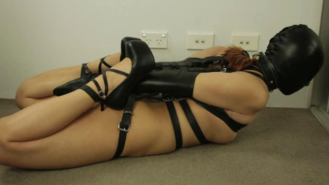 Tight tying, domination and wrist and ankle bondage for very pretty slut HD 1080p