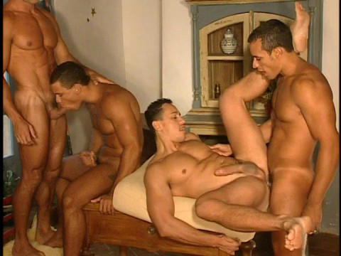 Manville Gangbang WIth Double Anal
