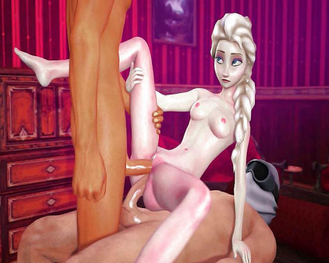 Cartoon collection with sexy babes Anna and Elsa