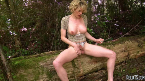 Delia DeLions Wanking In The Woods (2014)