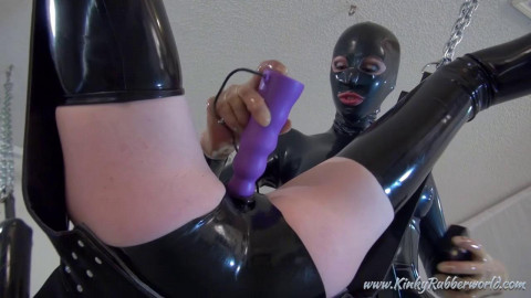 Rubberdoll Toyfucking On The Swing - HD 720p