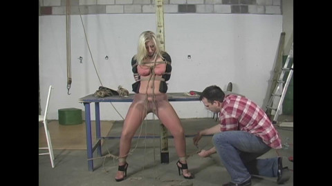 Crystal Frost Begs for Tight Bondage 2 part - Extreme, Bondage, Caning