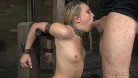 AJ Applegate chained and blindfolded