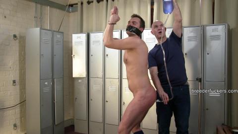 Jozef - Nipples pegged - Arse cheeks paddled