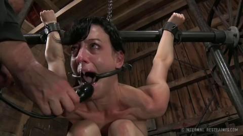 Tight restraint bondage, strappado and pain for concupiscent slavegirl part 2 HD 1080