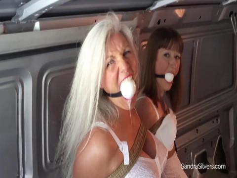 Nabbed, Ballgagged Brides Stripped to Lingerie & Girdles
