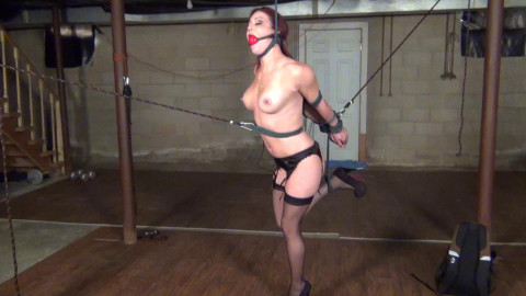 Sarah Brooke: Strappado and Ankles fastened crossed